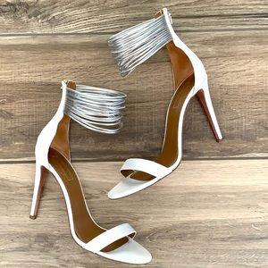 AQUAZZURA White Silver Heels